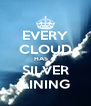 EVERY CLOUD HAS A SILVER LINING - Personalised Poster A4 size