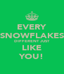 EVERY SNOWFLAKES DIFFERENT JUST LIKE YOU! - Personalised Poster A4 size