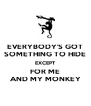 EVERYBODY'S GOT SOMETHING TO HIDE EXCEPT FOR ME AND MY MONKEY - Personalised Poster A4 size
