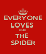 EVERYONE LOVES  BOB THE  SPIDER - Personalised Poster A4 size