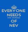 EVERYONE  NEEDS 100 SHADES OF NEV - Personalised Poster A4 size