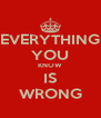 EVERYTHING YOU KNOW IS WRONG - Personalised Poster A4 size
