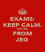 EXAMS: KEEP CALM. YOU'RE FROM JEG - Personalised Poster A4 size