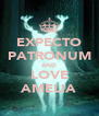 EXPECTO PATRONUM AND LOVE AMELIA - Personalised Poster A4 size