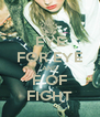 EYE FOR EYE AND F OF FIGHT - Personalised Poster A4 size