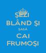 ŞEZI  BLÂND ŞI ŞASĂ CAI FRUMOŞI - Personalised Poster A4 size