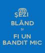 ŞEZI  BLÂND ŞI FI UN BANDIT MIC - Personalised Poster A4 size