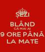 ȘEZI BLÂND CĂ MAI AI 9 ORE PÂNĂ LA MATE - Personalised Poster A4 size