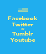Facebook Twitter :D Tumblr Youtube - Personalised Poster A4 size