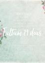 Faltam 29 dias - Personalised Poster A4 size