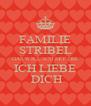 FAMILIE STRIBEL DAS WILL ICH MIT DIR ICH LIEBE  DICH - Personalised Poster A4 size