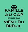 FAMILLE AU CAP D'AGDE QUI VIENT DU BREUIL - Personalised Poster A4 size