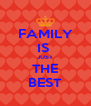 FAMILY IS  JUST THE BEST - Personalised Poster A4 size