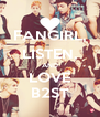 FANGIRL, LISTEN, AND LOVE B2ST - Personalised Poster A4 size