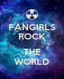 FANGIRLS ROCK  THE WORLD - Personalised Poster A4 size