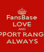 FansBase LOVE AND SUPPORT RANGGÂ ALWAYS - Personalised Poster A4 size