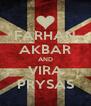 FARHAN AKBAR AND VIRA PRYSAS - Personalised Poster A4 size