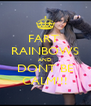 FART  RAINBOWS AND DONT BE CALM!!! - Personalised Poster A4 size