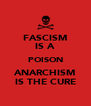 FASCISM IS A POISON ANARCHISM IS THE CURE - Personalised Poster A4 size