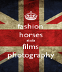 fashion horses skulls films photography - Personalised Poster A4 size