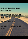 fate controls who walks  into your life,  but you decide who you let walk out,  who you let stay  and who you refuse to let go of - Personalised Poster A4 size