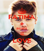 FATIMA + BIEBER = LOVE - Personalised Poster A4 size