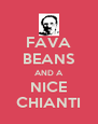 FAVA BEANS AND A NICE CHIANTI - Personalised Poster A4 size