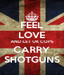 FEEL LOVE AND LET UK COPS CARRY SHOTGUNS - Personalised Poster A4 size