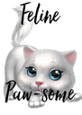 Feline   Paw-some - Personalised Poster A4 size