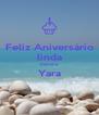 Feliz Aniversário linda menina Yara  - Personalised Poster A4 size