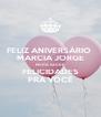 FELIZ ANIVERSÁRIO  MARCIA JORGE MUITA SAÚDE  FELICIDADES PRA VOCÊ - Personalised Poster A4 size