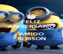 FELIZ ANIVERSÁRIO MEU AMIGO ROBSON - Personalised Poster A4 size