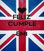 FELIZ CUMPLE  EMI  - Personalised Poster A4 size