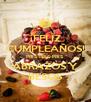 ¡FELIZ CUMPLEAÑOS! PRIS-PRIS-PRIS ABRAZOS Y BESOS - Personalised Poster A4 size