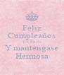 Feliz Cumpleaños Tia Estela Y mantengase Hermosa - Personalised Poster A4 size