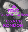 FELIZ  CUMPLEAños  A OSACR RONDON  - Personalised Poster A4 size