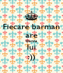 Fiecare barman are Oanna lui :)) - Personalised Poster A4 size