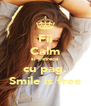 Fii Calm si petrece cu pag. Smile is free - Personalised Poster A4 size