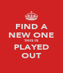 FIND A NEW ONE THIS IS PLAYED OUT - Personalised Poster A4 size