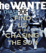 FIND US  IN THE CHASING  THE SUN - Personalised Poster A4 size