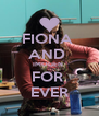 FIONA  AND  IMOGEN  FOR  EVER - Personalised Poster A4 size