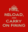 FIRE, RELOAD, AND CARRY ON FIRING - Personalised Poster A4 size
