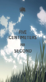FIVE CENTIMETERS PER SECOND  - Personalised Poster A4 size