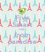 Five Smart Stars from paradise - Personalised Poster A4 size