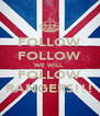 FOLLOW FOLLOW WE WILL FOLLOW RANGERS!!! - Personalised Poster A4 size