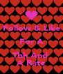 Follow & Like For A Tbh And  A Rate - Personalised Poster A4 size
