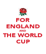 FOR ENGLAND AND THE WORLD CUP - Personalised Poster A4 size