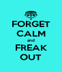 FORGET CALM and FREAK OUT - Personalised Poster A4 size