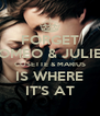 FORGET ROMEO & JULIET COSETTE & MARIUS IS WHERE IT'S AT - Personalised Poster A4 size
