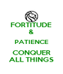 FORTITUDE & PATIENCE CONQUER ALL THINGS - Personalised Poster A4 size